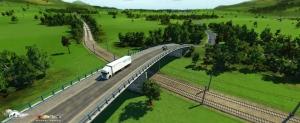 Screenshots aus einer digitalen Miniaturwelt. Eisenbahn und Transport. Österreichische Transportfirmen unterwegs um Waren zu liefern.